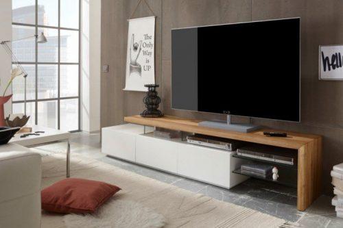 Nowoczesna komoda TV ALIMOS 205 biały mat
