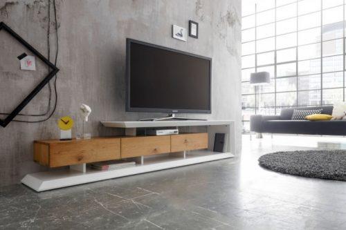 Nowoczesna niska komoda telewizyjna EMELA 198 cm