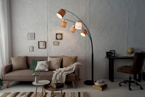 Lampa levels 200cm biało beżowo-brązowa