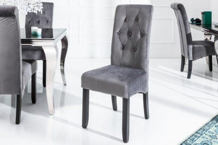 Krzesło CASA kolonialne drewno vintage szare