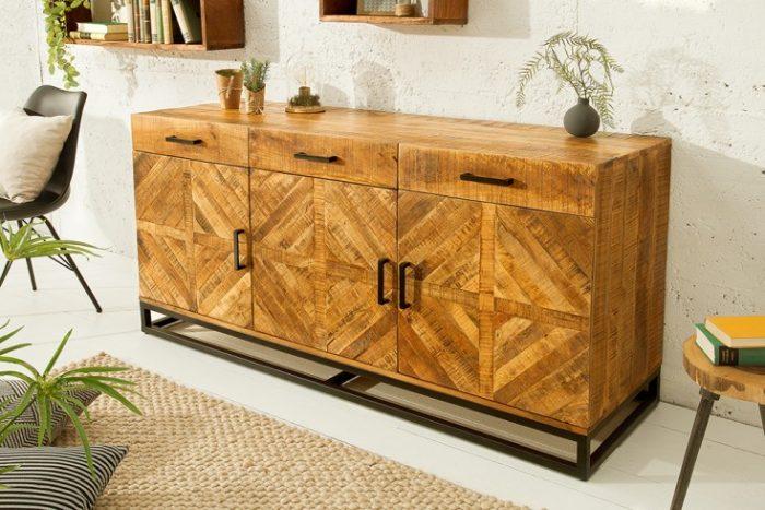 Solidny kredens INFINITY HOME 160 cm z drewna mango