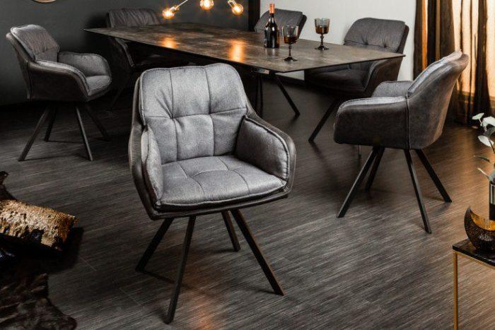 Krzesło obrotowe MR. LOUNGER antracyt z podłokietnikiem