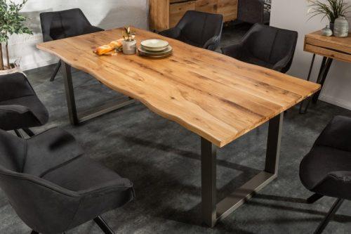 Masywny stół LIVING EDGE 200 cm blat z dębu olejowanego 3,5 cm