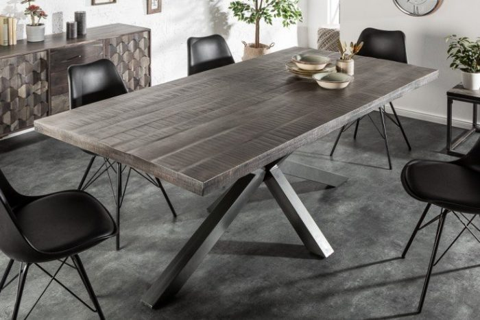 Stół GALAXIE 200 cm szary akacja