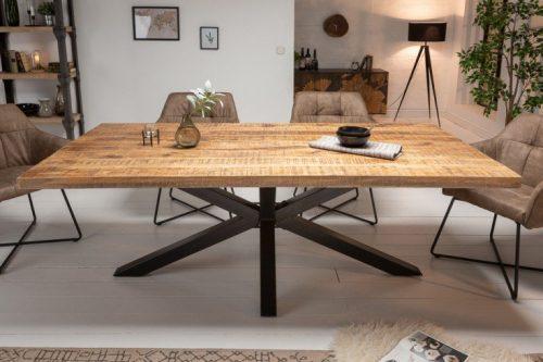 Masywny stół przemysłowy GALAXIE 180 cm drewno Mango