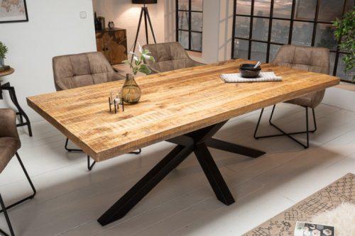 Masywny stół przemysłowy GALAXIE 200 cm drewno mango