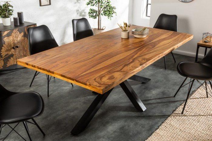 Masywny stół przemysłowy GALAXIE 200 cm drewno Sheesham
