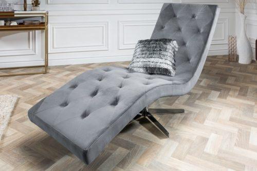 Nowoczesna leżanka szezlong tapicerowany Relaxo 165cm szary