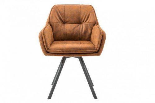 Krzesło obrotowe MR. LOUNGER jasnobrązowy z podłokietnikiem