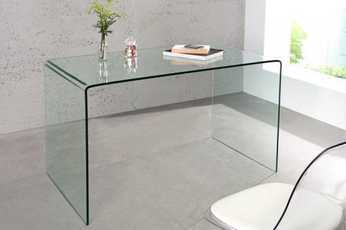 Ekstrawaganckie szklane biurko FANTOME 120 cm przezroczysty