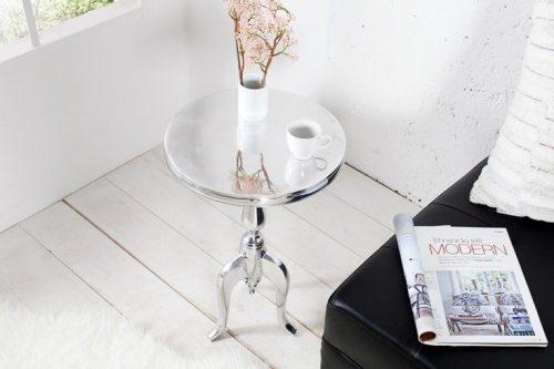 Stolik kawowy SAVOY stolik boczny srebrny 35cm
