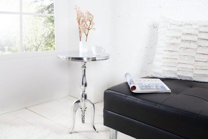 Stolik kawowy SAVOY srebrny 35cm