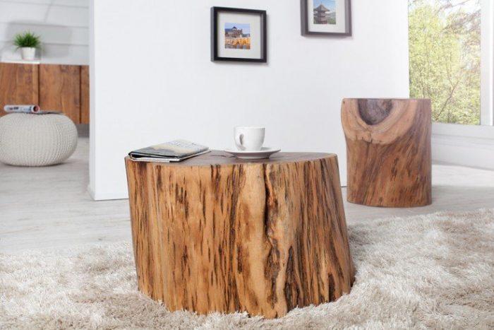 Masywny stolik kawowy GOA 50 cm akacja