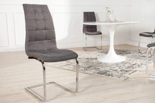 Krzesło na płozach ze stali nierdzewnej LondonSzare