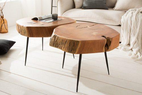 Masywny stolik kawowy GOA 60 cm  akacja
