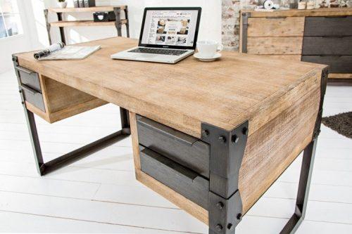 Masywne biurko przemysłowe FACTORY 135 cm