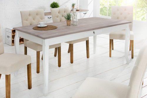 Elegancki stół jadalny MAISON BELLE 180 cm sosnowy schaby chic