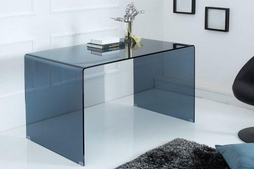 Ekstrawaganckie szklane biurko FANTOME 120 cm