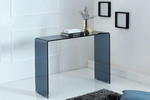 Ekstrawaganckie szklane biurko FANTOME 100 cm