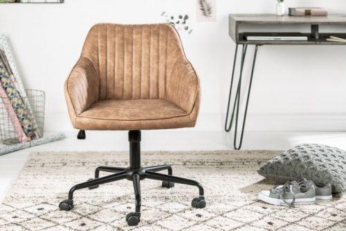 Obrotowe krzesło biurowe TURIN vintage regulacja wysokości