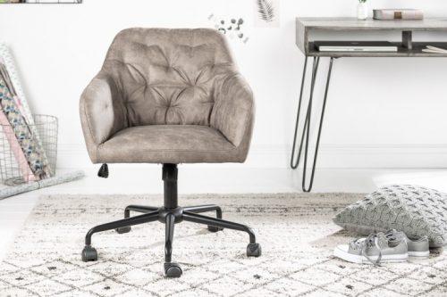 Krzesło biurowe z regulacją  DUTCH eleganckie pikowania
