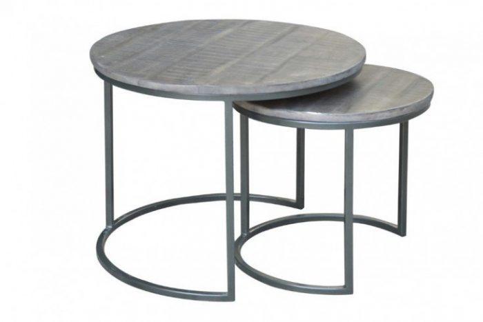 Zestaw stolików ELEMENTS 57cm szary 39657