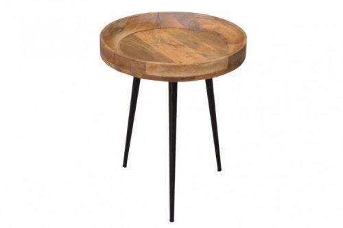 Elegancki boczny stolik PURE NATURE 45 cm drewno mango