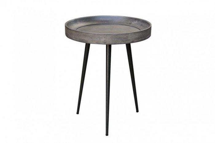 Elegancki boczny stolik PURE NATURE 45 cm akacja szary