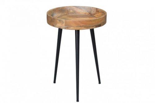 Elegancki stolik PURE NATURE 35 cm drewno mango