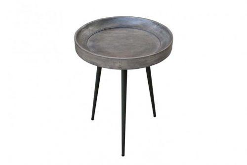 Elegancki stolik boczny PURE NATURE 35 cm akacja szary