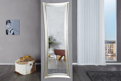 Eleganckie lustro ścienne EXTRAVAGANCIA 180×60 cm srebrne