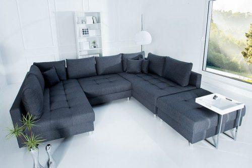 Nowoczesna sofa XXL KENT 305 cm antracyt