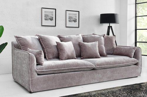 Duża 3-osobowa sofa HEAVEN 210 cm taupe aksamitna