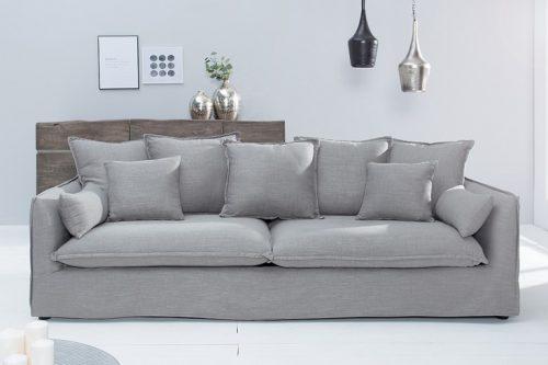 Duża 3-osobowa sofa HEAVEN 210 cm szara
