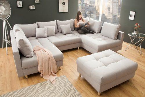 Nowoczesna sofa XXL KENT 305 cm szara