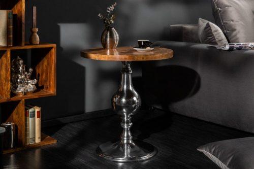 Elegancki stolik boczny EXTRAVAGANCIA 51 cm drewno mango