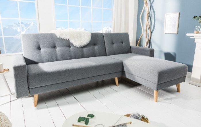 Nowoczesna rozkładana sofa SCANDINAVIA CHAISE 250 cm narożna sofa