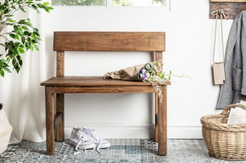Solidna ławka HEMINGWAY 80cm mahoniowa ławka