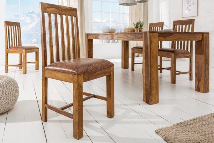 Krzesło MAKASSAR drewno 39751