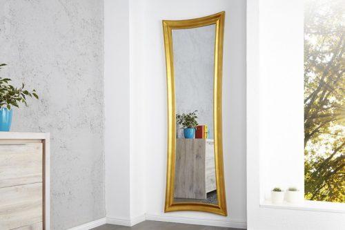Eleganckie lustro ścienne EXTRAVAGANCIA 180x60 cm złote