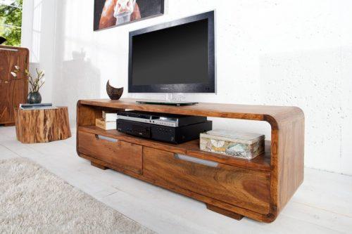 Komoda pod TV CUBUS 130 cm drewno Sheesham