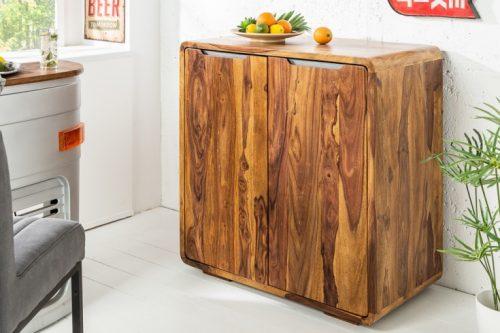 Solidna szafka barowa CUBUS 100 cm drewno Sheesham