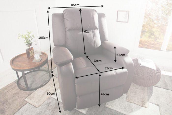 Nowoczesny fotel relaksacyjny HOLLYWOOD brązowy z funkcją rozkładania