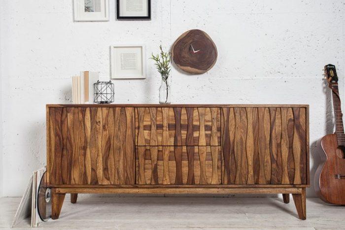 Solidny kredens RETRO 160 cm drewno Sheesham