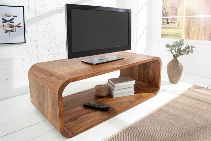 Elegancki drewniany stolik kawowy CUBUS 100 cm
