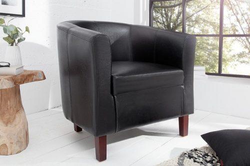 Ponadczasowy  fotel Hemingway  w kolorze czarnym