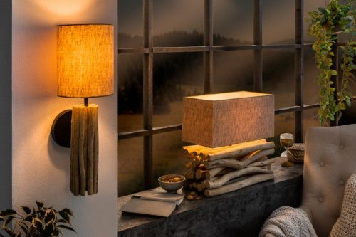 Lampa stołowa EUPHORIA II z naturalnego lnu