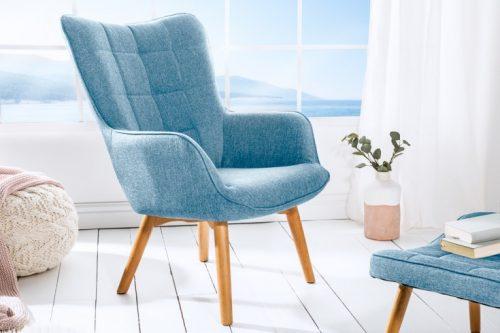 Fotel SCANDINAVIA niebieski styl skandynawski