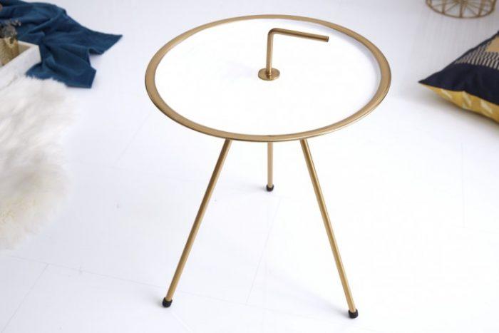 Elegancki biały stolik boczny SIMPLY CLEVER 36 cm