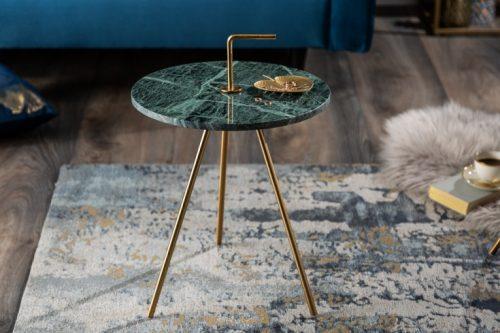 Marmurowy stolik SIMPLY CLEVER 36cm zielony okrągły